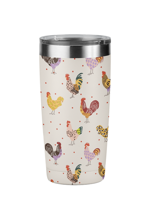Fluffy Layers Colorful Farm Tumbler, Travel Mug 20oz, Mug