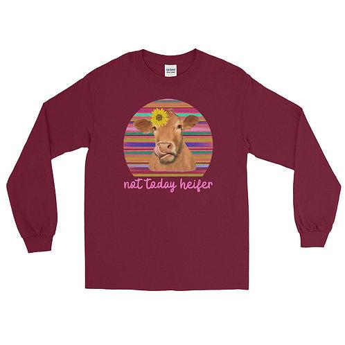 "Fluffy Layers ""Not Today Heifer""  Long Sleeve Shirt"