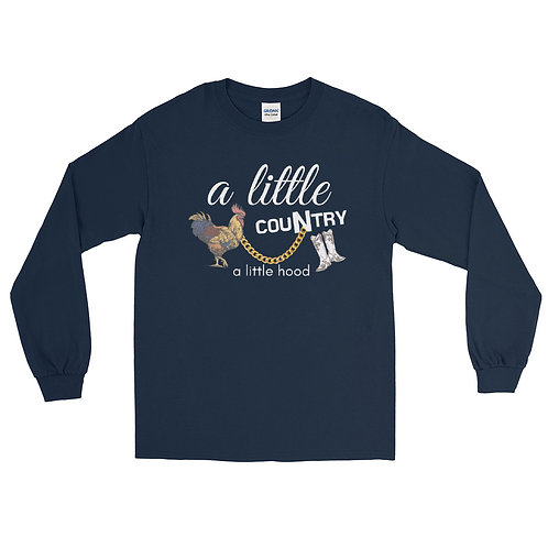 """Fluffy Layers """"A Little Country a Little Hood""""  Long Sleeve Shirt"""