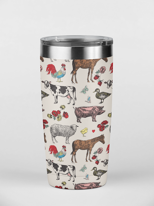 Fluffy Layers Colorful Classic Farm Tumbler, Travel Mug 20oz, Mug