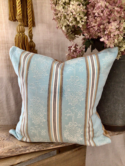 Antique French Ticking  Pillow