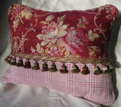 antique french textile pillow