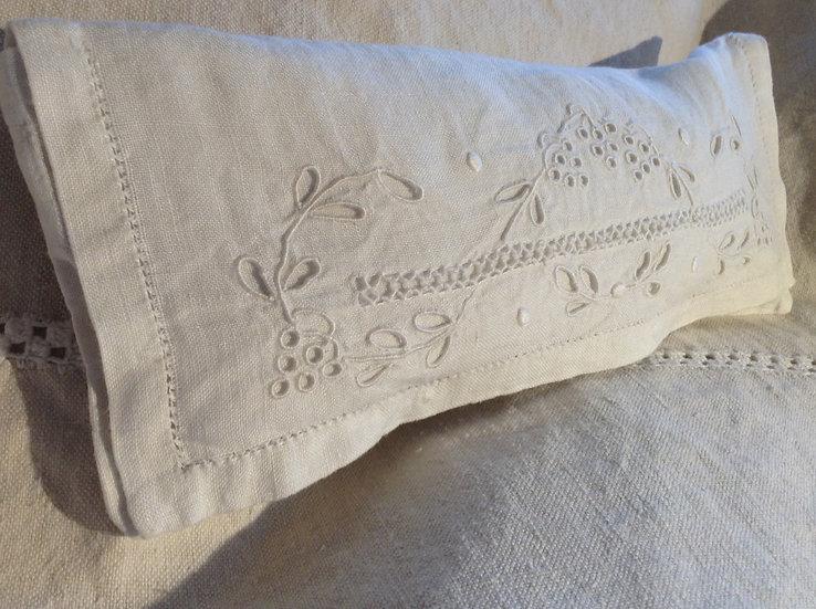Antique textile lavender filled sachet
