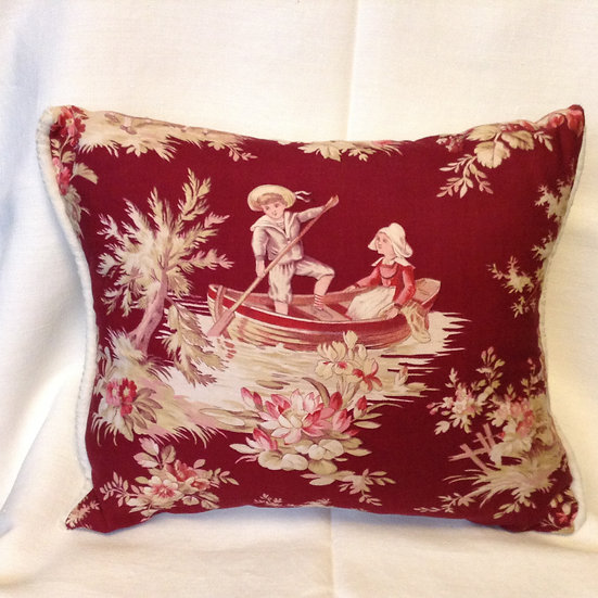 Charming 19thc  French Fabric Pillow
