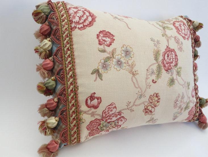 19thc French Tassel Pillow