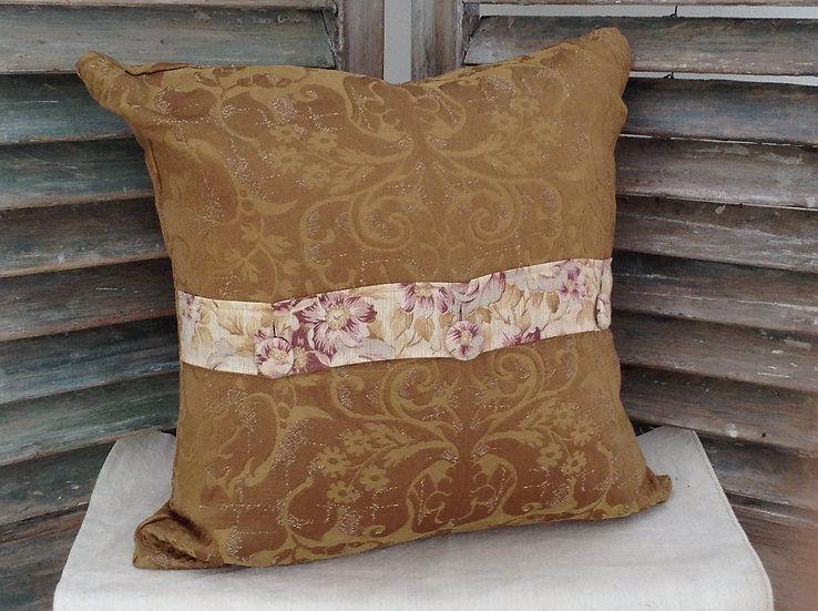 Pair French Floral & Damask Pillow