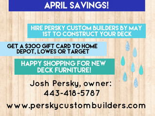 April Showers Bring You... a New Deck to Admire Your Flowers From!