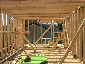 Framing a home addition