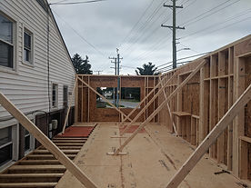 Framing home addition construction