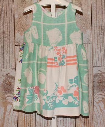 Light Green/Coral Vintage Dress