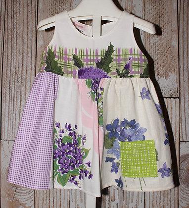 Little Miss Moffet, lavender dress