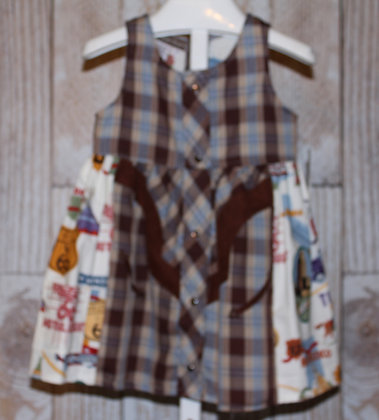 Route 66 Western Vintage Shirt with Pearl Snaps Dress
