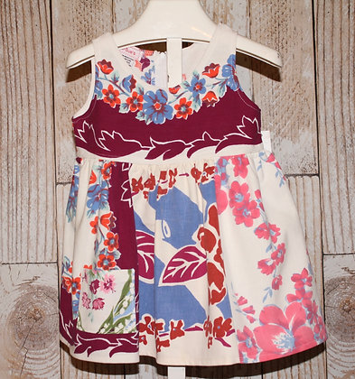 Pink, Blue and Maroon Floral dress