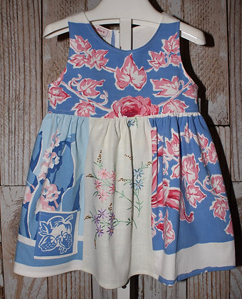 Pink andBlue Flower dress