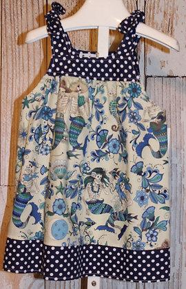 Blue mermaid skeletons dress