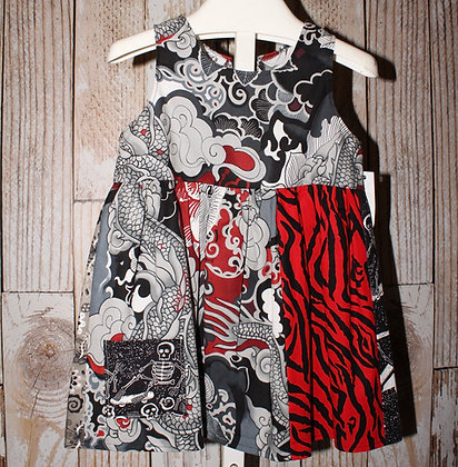 Dragons and skateboards dress