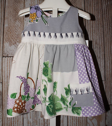 Lavender and gray dress