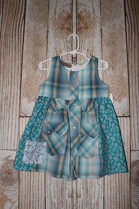 Turquoise Paisley dress