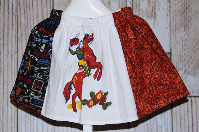 Cowgirl and Horse Skirt
