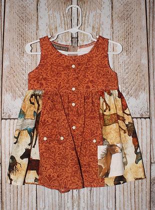 Tooled Leather Print dress