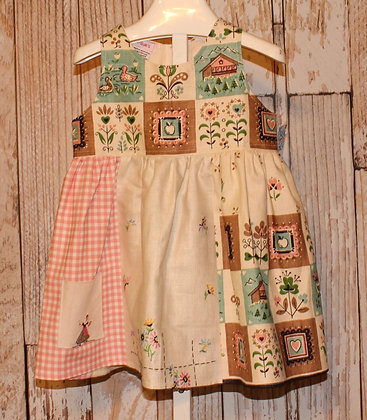 Pink and Patchwork Dress
