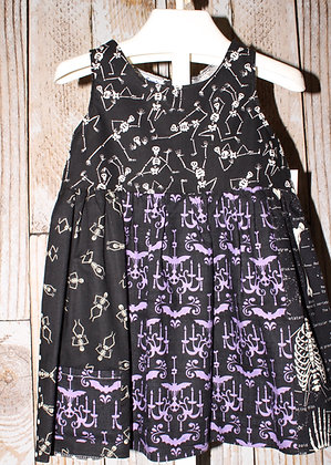 Purple and Black Edgy dress