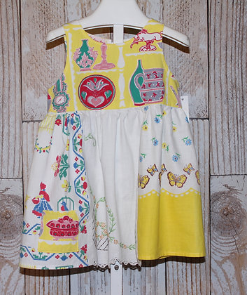 Vintage Tablecloth, Hand Embroidered Dress