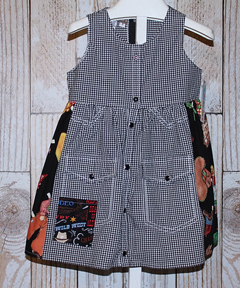 """""""Paper Doll"""" Western Vintage Dress with Pearl Snaps"""