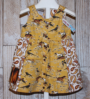 Western Shirt Hunting Print Dress