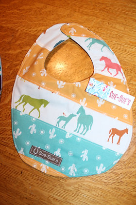 Horse and cactus bib