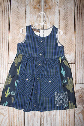 Cactus and crows dress