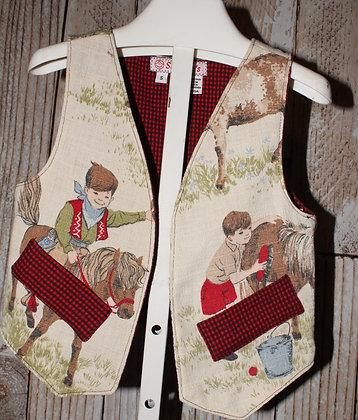 Vintage fabric vest