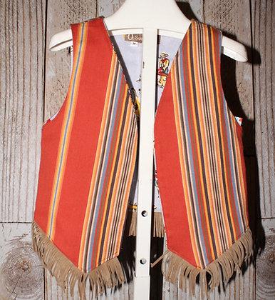 Striped western vest