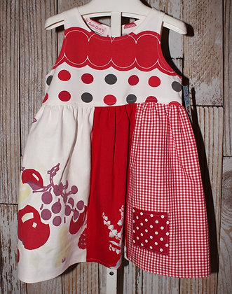 Red and Black Dots Dress
