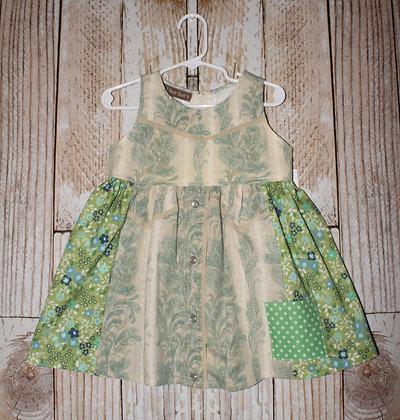 Green western dress
