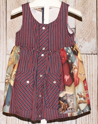 Stripes Vintage Western Shirt Dress