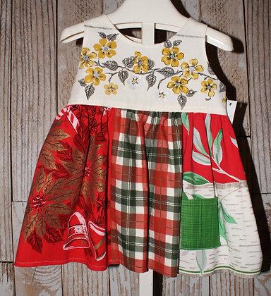 Christmas Dress with green pocket