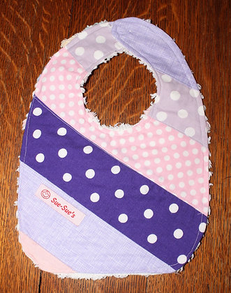 Purple/pink bib