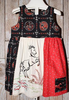 Embroidered Bronco Dress