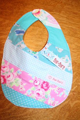 Pink and turquoise Bib