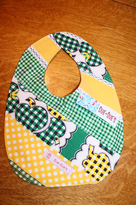 Yellow and Green Bib