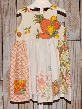 Orange/yellow vintage fabric dress