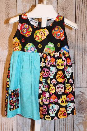 Multi color Skulls dress