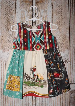 Covered Wagon Train dress