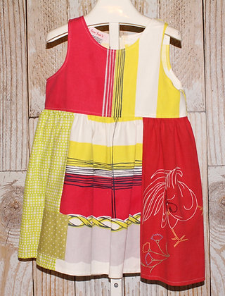 Red Rooster Vintage Fabric Dress