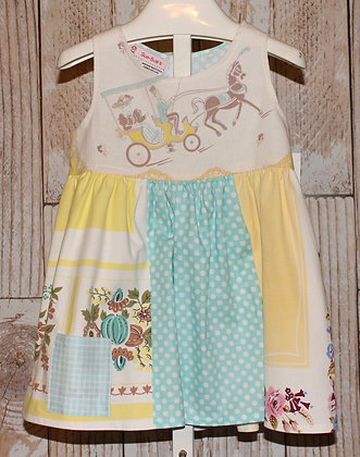 Vintage Horse and Carriage Print Dress