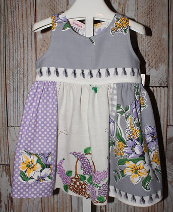A-ticket A-tasked lavender and gray dress