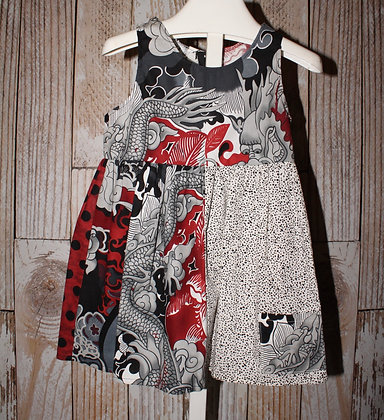 Red and black Dragon Dress