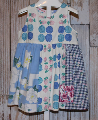 SALE Vintage Tablecloth and Fabric Dress