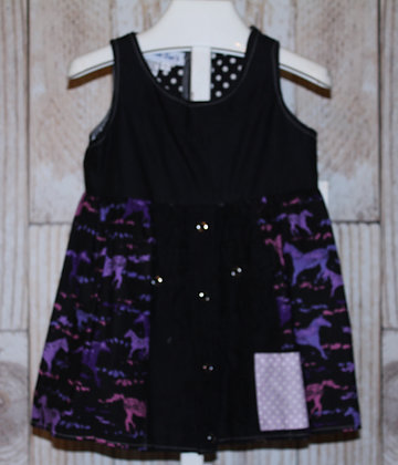 Purple/Pink Horses Western Dress